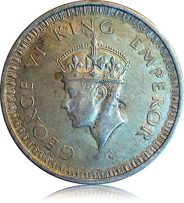 1942 1 Rupee King George VI British India O