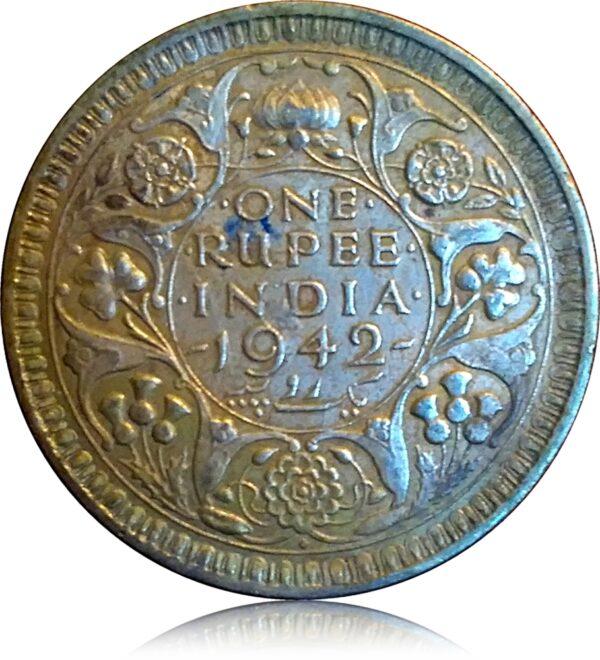 1942 1 Rupee King George VI British India R