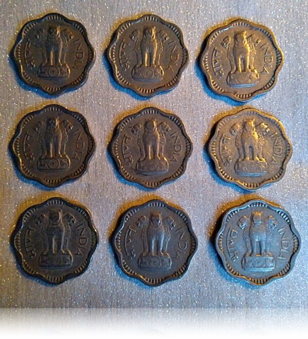 1965 10 paise Copper Nickel Scalloped