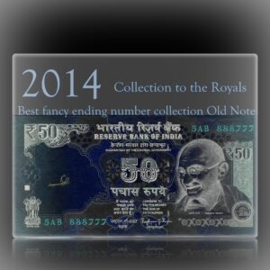 2014 Old 50 Rupee Note Sign by Raghuram G Rajan super fancy number note F-- 5AB 888777